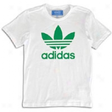 Adidas Originals Trefoil S/s Logo T-shirt - Full Kids - White/fairway