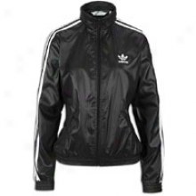 Adidas Originals Windbreaker Full Zip L/s Jacket - Womens - Black/white