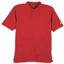 Adidax Perf Basics Climalite Polo - Mens - University Red