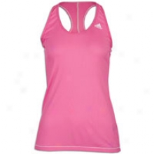 Adidas Perfect Rib Tank - Womens - Intense Pink/white