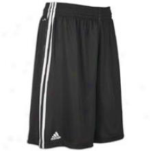 "Adidas Practice Rev. 10"" Short - Mens - Black/white"