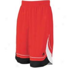 Adidas Pro Pattern Short - Mens - Light Scarlet/black
