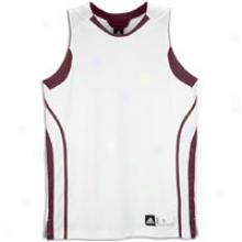 Adidas Pro Team Jerset - Mens - White/maroon