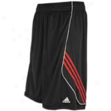 Adidas Raise Up 3-stripe Short - Mens - Black/light Scarlet