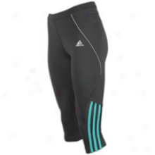 Adidas Response Ds 3/4 Tight - Womens - Phantom/ultra Green