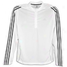 Adidas Response Ds Half-zip L/s Jacket - Mens - White/black/grdy-light Onyx