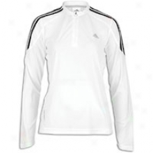 Adidas Response Ds L/s Fitted Half-zip - Womens - White/black/light Onyx