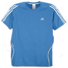 Adidas Response Ds S/s T-shirt - Mens - Prime Blue/white/light Onix