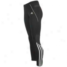 Adidas Response Long Tight - Womens - Black/white/lt Onix