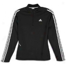Adidas Response L/s Half-zip Fleece - Mens - Black/white