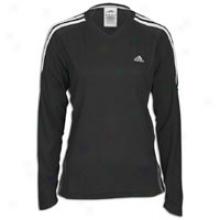 Adidas Response L/s T-shirt - Womens - Black/white