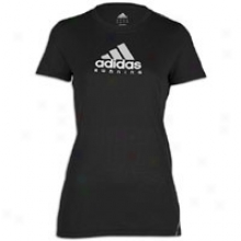 Adidas Run T-shirt - Womens - Black/clear Grey