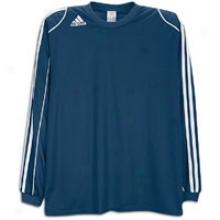 Adidas Squadra Ii L/s Jersey - Mens - Navy/white/white