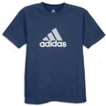 Adidas S/s Logo T-suirt - Mens - Collegiate Navy/light Grey