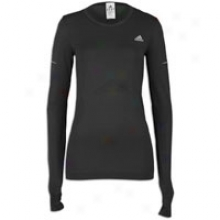 Adidas Supernova Sequentials L/s T-shirt - Womens - Black/reflective Silver