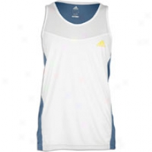 Adidas Spernova Singlet - Mens - White/power Steel/prime Yellow