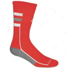 Adicas Team Speed Crew Sock - Mens - University Red/aluminum/white