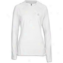 Adiddas Techfit Coldweather 3/4 Zip Hoodie - Womens - Pure