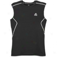 Adidas Techfit Fitted S/l T-shirt - Mens - Black/white