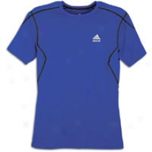 Adidas Techfit Fitted S/s T-shirt - Mens - Collegiate Royal/black