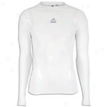 Adidas Techfit Powerweb L/s Top - Mens - White/transparent/light Onix