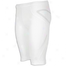 "Adidas Techfit Preparation 10"" Short Close - Mens - White"