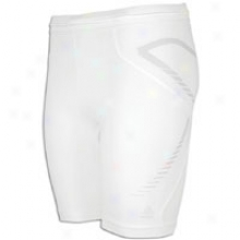 "Adidas Techfit Preparation 7"" Short Tight - Mens - White"