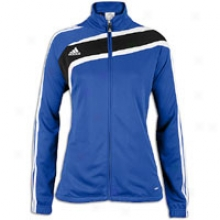 Adidas Tiro Ii Full Zip L/s Training Jacket - Womens - Cobalt/black/white