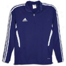 Adidas Tiro Iu Training Qtr Zip L/s Top - Blg Kids - New Navy/white