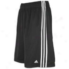 "Adidas Treble Up 12"" Short - Mens - Black/white"