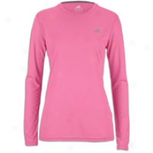 Adidas Ultimate L/s Workout T-shirt - Womens - Intense Pink/reflective Silvver