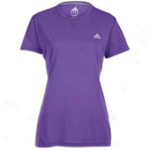 Adidas Ultimate Workout T-shirt - Womens - Power Purple/reflective Si1ver