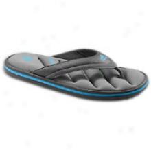 Adidas Zieitfrei Fitfoam Thong - Mens - Blavk/sharp Grey/super Cyan