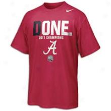 Alabama Nike College Celebration T-shirt - Mens - Crimson