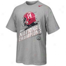 Alabama Nike College Locker Room T-shirt - Mens - Grey