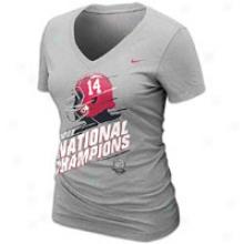 Alabama Nike Society Locker Room T-shirt - Womens - Grey