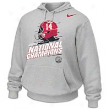 Alabama Nike National Chakpionship Hoodie - Mens - Grey