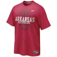 Arkansas Nike College Football Practice T-shirt - Mens - Varsity Crimson