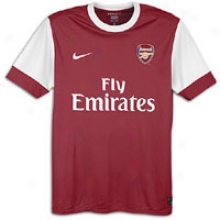 Arsenal Nike 2010 Internatiobal Soccer Jersey - Mens - Artilery Red/white