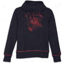 Arsenal Nike Arsenal Core Hoodie - Mens - Dark Obsidian/artillery Red