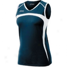 Asics Ace S/l Jersey - Womens - Navy/white