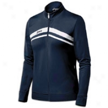 Asics Cabrillo Full Zip Jacket - Womens - Navy/white