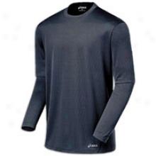 Asics Core L/s T-shirt - Mens - Iron