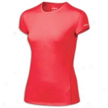 Asics Core S/s T-shirt - Womens - Ruby