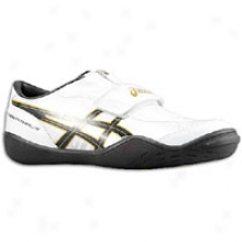 Asics Cyber Throw London - Mens - White/black/gold