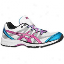 Asics Gel-ds Raccer 9 - Womens - White/neon Pink/electric Blue