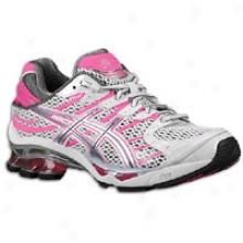 Asics Gel-kinetic 4 - Womens - Titanium/lightning/neon Pink