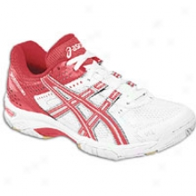 Asics Gel Roccket 5 - Womens - White/red