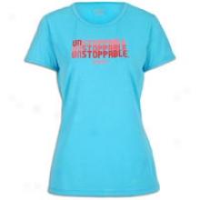 Asics Graphic T-shirt - Womens - Aqua