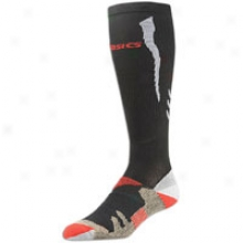 Asics Kinsei Compression Knee High - Black/sport Red/black